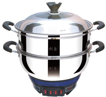 压花养生电热锅