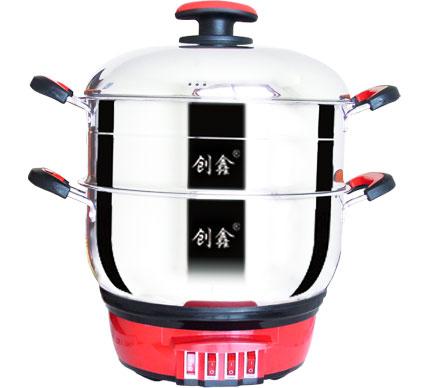 中国红款电热锅