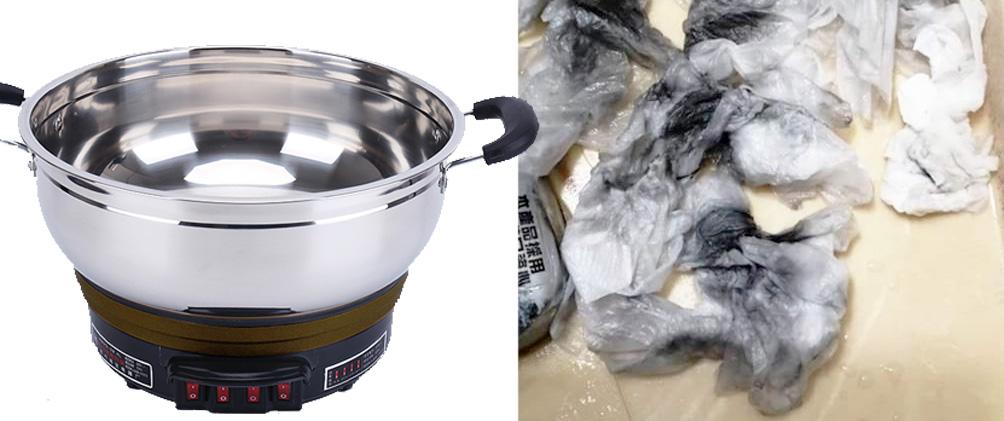 不锈钢电热锅油污