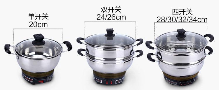 电热锅大小的区别