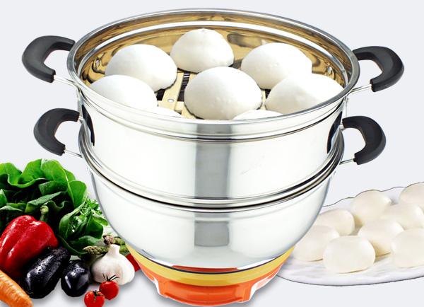 电热锅食谱-蒸馒头