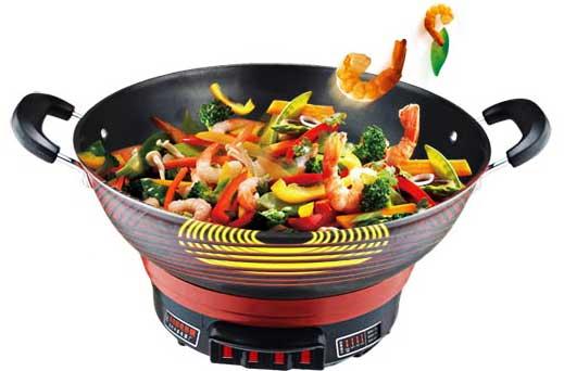 铸铁电热锅炒菜