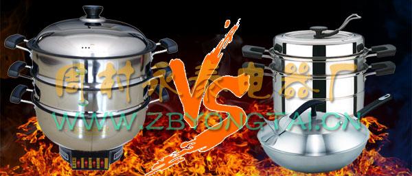 电热锅_多功能电热锅和普通锅的对比