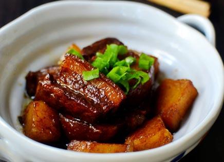 电热锅炒菜-红烧肉