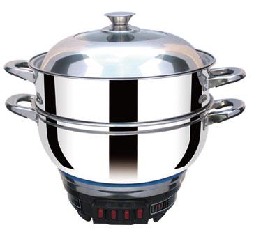 白钢七代电热锅